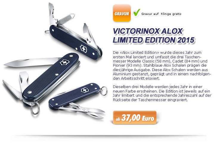 Victorinox Alox Limited Edition 2015 mehr Info