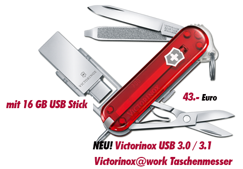 Victorinox work mit 16 GB USB Stick