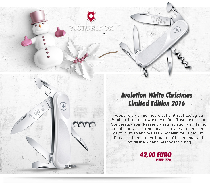 Victorinox Evolution Grip White Christmas Limited Edition 2016
